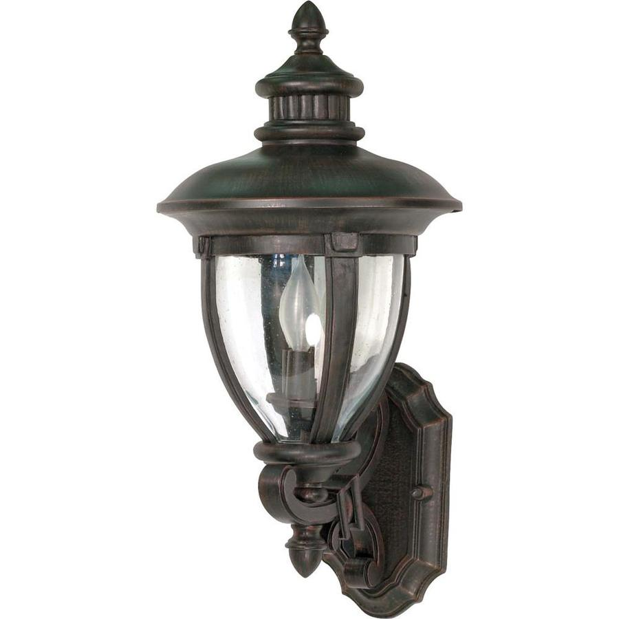 19.36-in H Old Penny Bronze Outdoor Wall Light