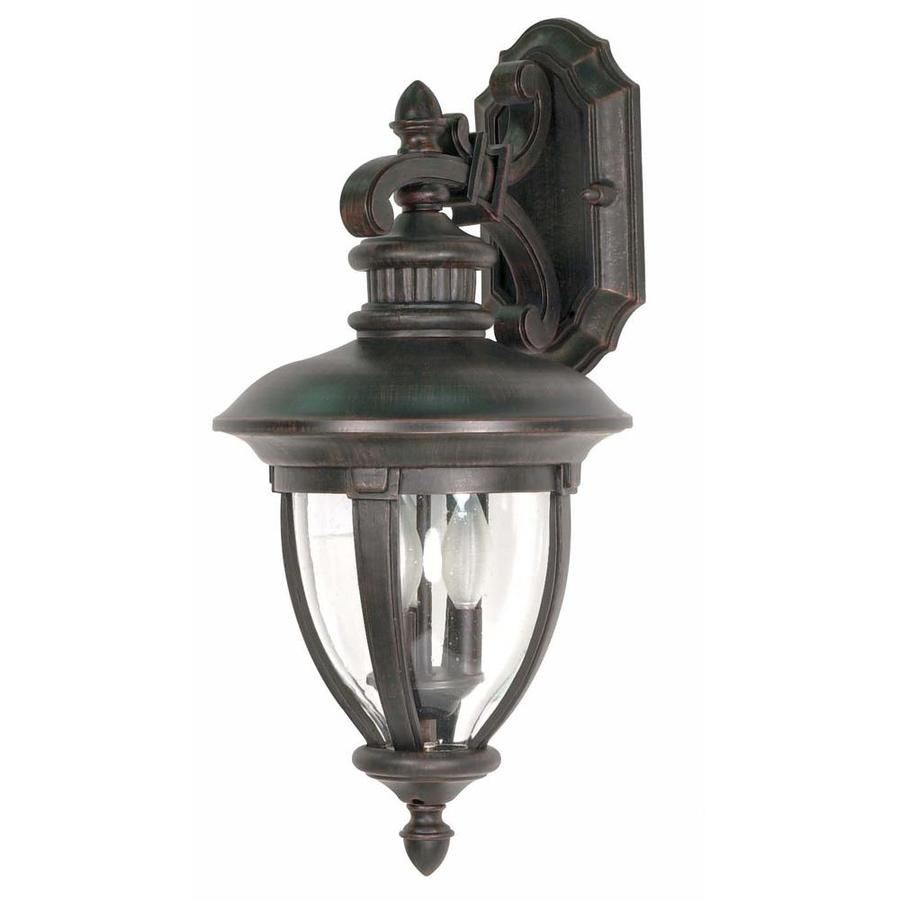 22.05-in H Old Penny Bronze Outdoor Wall Light