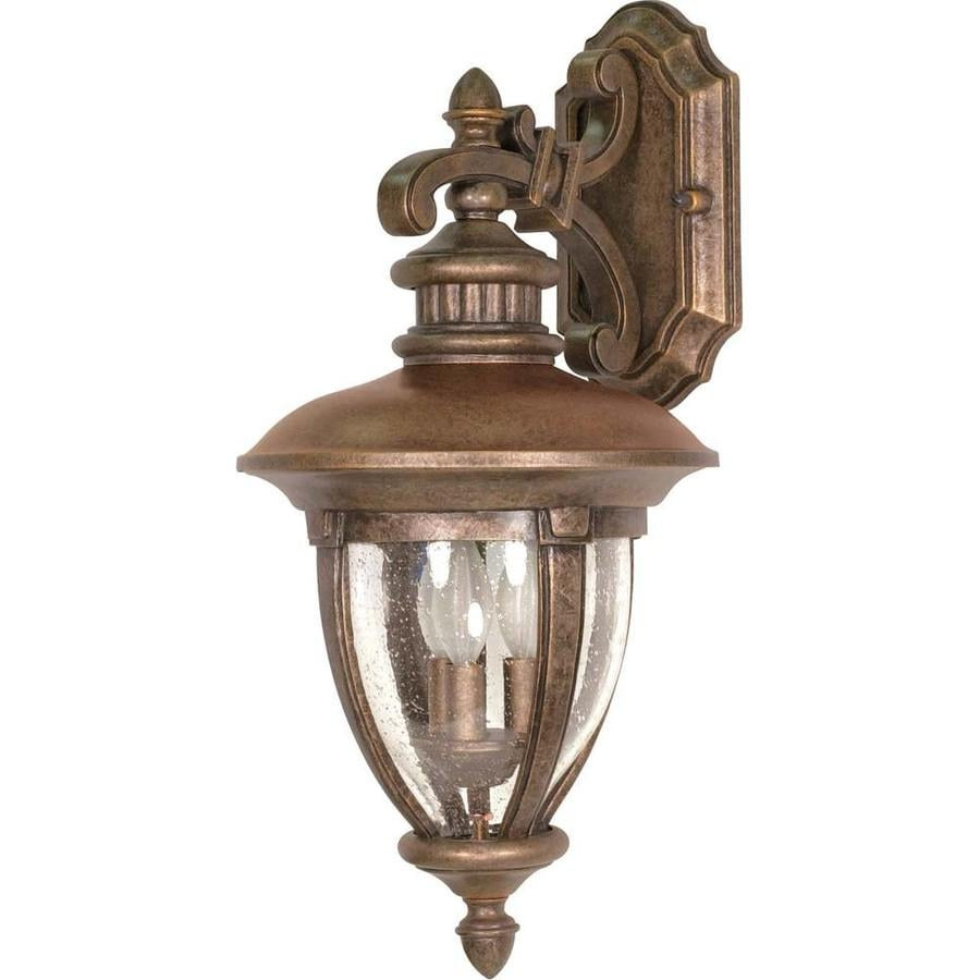 Shop 22.05-in H Platinum Gold Brass Outdoor Wall Light at Lowes.com