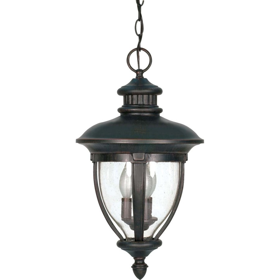 12.74-in W Old Penny Bronze Outdoor Flush-Mount Light