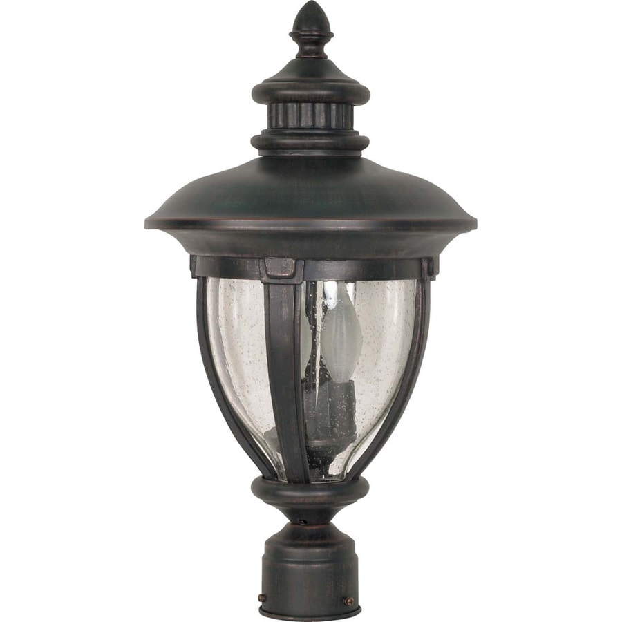 12.5-in W Old Penny Bronze Outdoor Flush-Mount Light