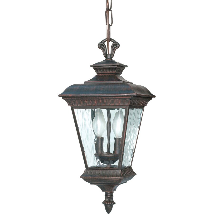 14.09-in W Old Penny Bronze Outdoor Flush-Mount Light
