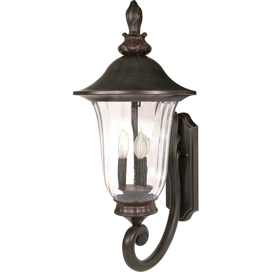 21.07-in H Old Penny Bronze Outdoor Wall Light