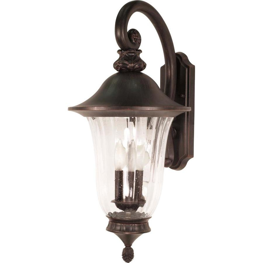 25.49-in H Old Penny Bronze Outdoor Wall Light