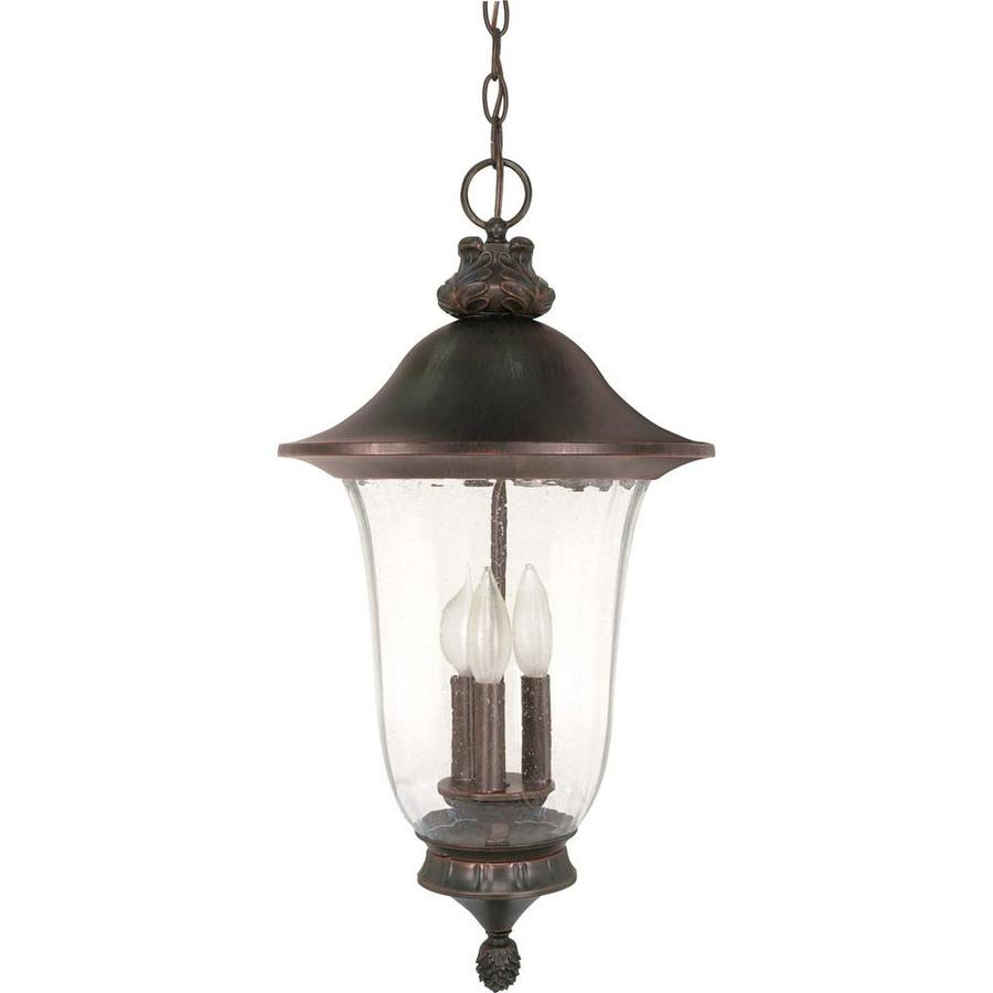 15.07-in W Old Penny Bronze Outdoor Flush-Mount Light