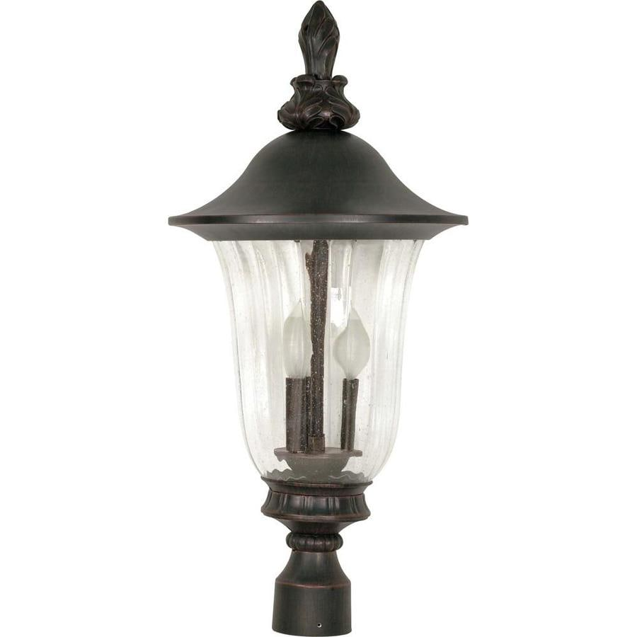 11.15-in W Old Penny Bronze Outdoor Flush-Mount Light