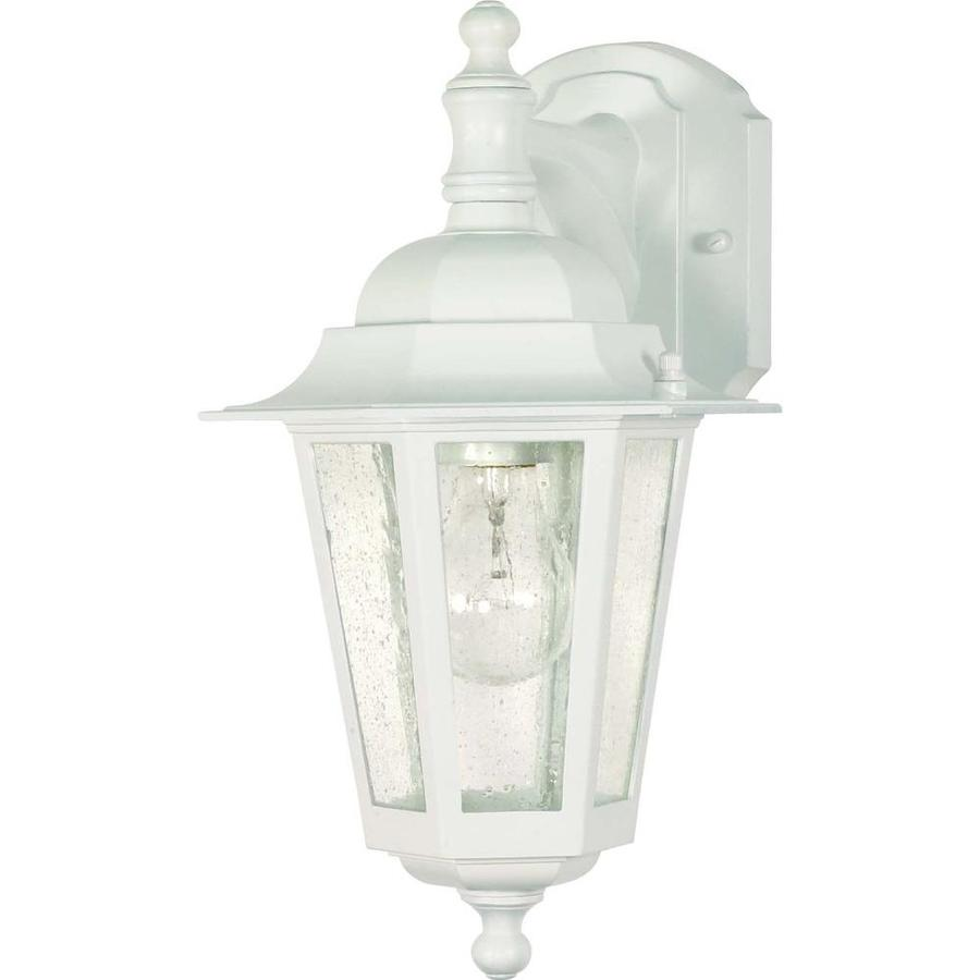 13.11-in H White Outdoor Wall Light