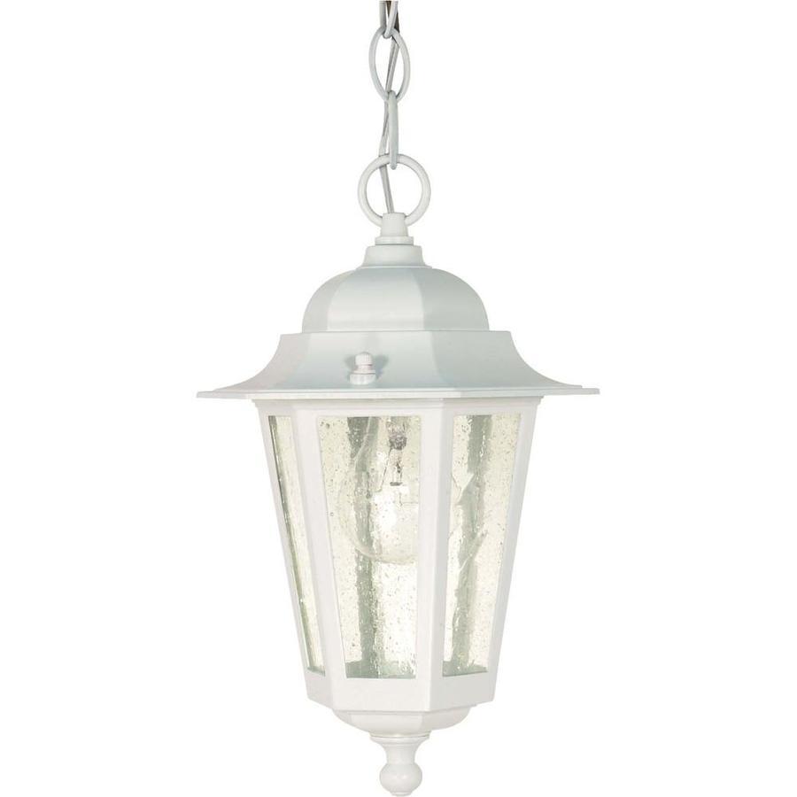 16.78-in W White Outdoor Flush-Mount Light