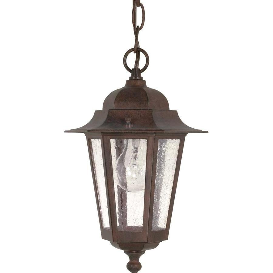 16.78-in W Old Bronze Outdoor Flush-Mount Light