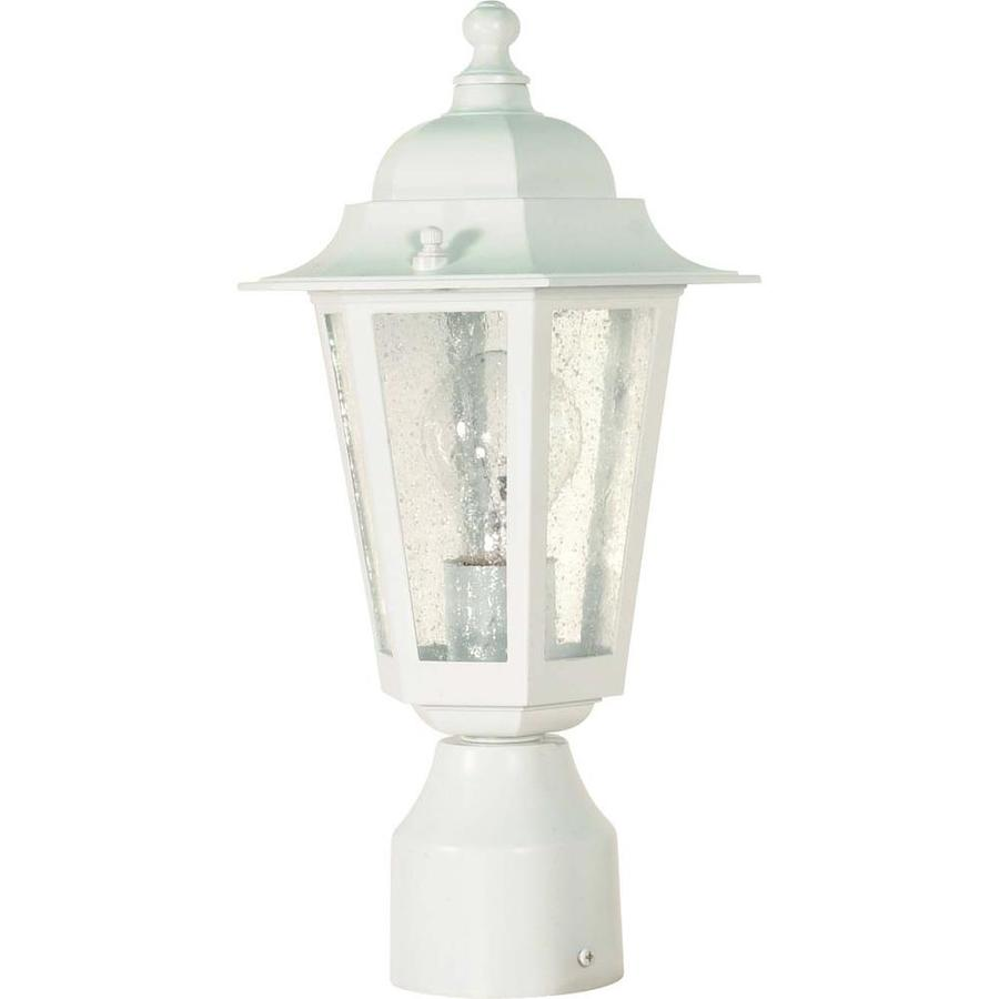 18.87-in W White Outdoor Flush-Mount Light