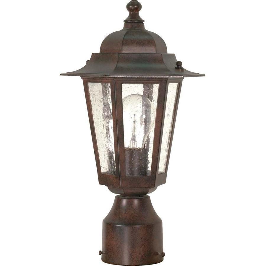 18.87-in W Old Bronze Outdoor Flush-Mount Light
