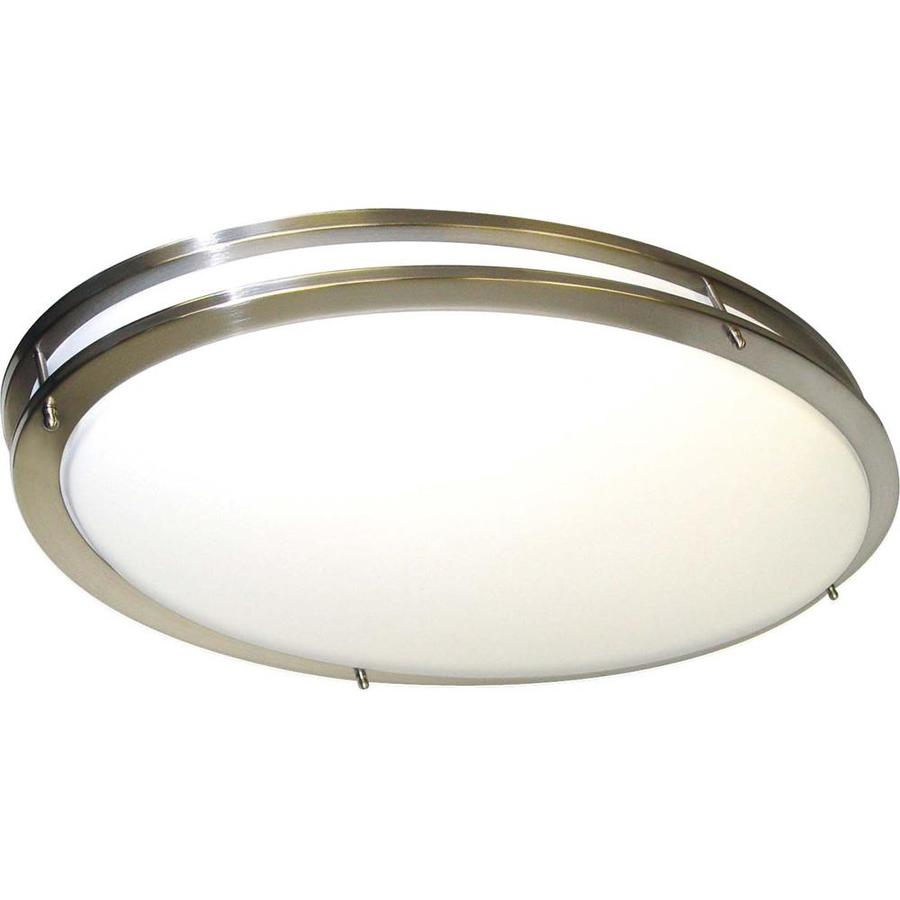 2-in W Brushed Nickel Flush Mount Light