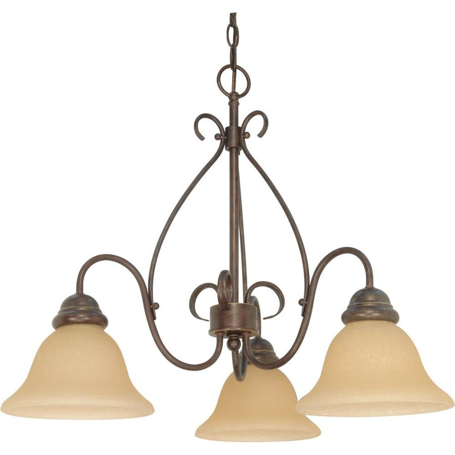 Melanie 26-in 3-Light Sonoma Bronze Candle Chandelier