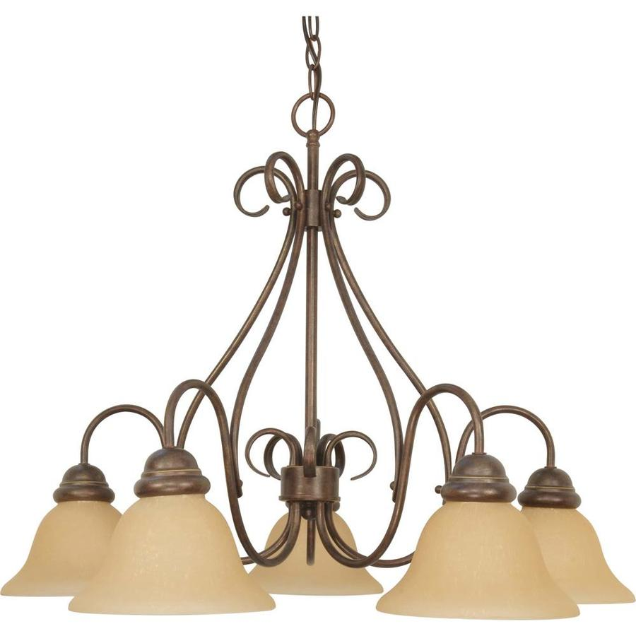 Melanie 28-in 5-Light Sonoma Bronze Candle Chandelier