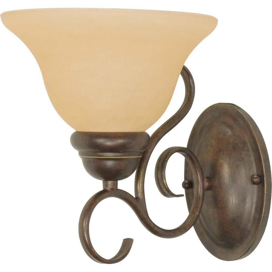 Castillo 9.25-in W 1-Light Sonoma bronze Arm Wall Sconce