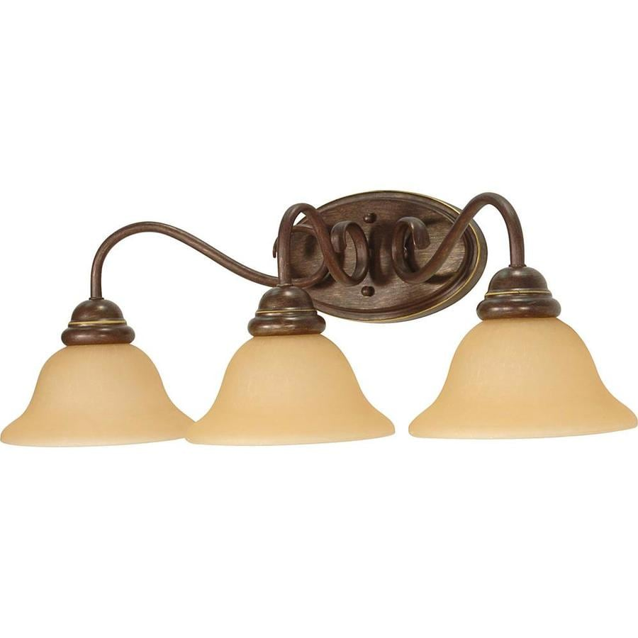 Castillo 27.75-in W 3-Light Sonoma Bronze Arm Wall Sconce