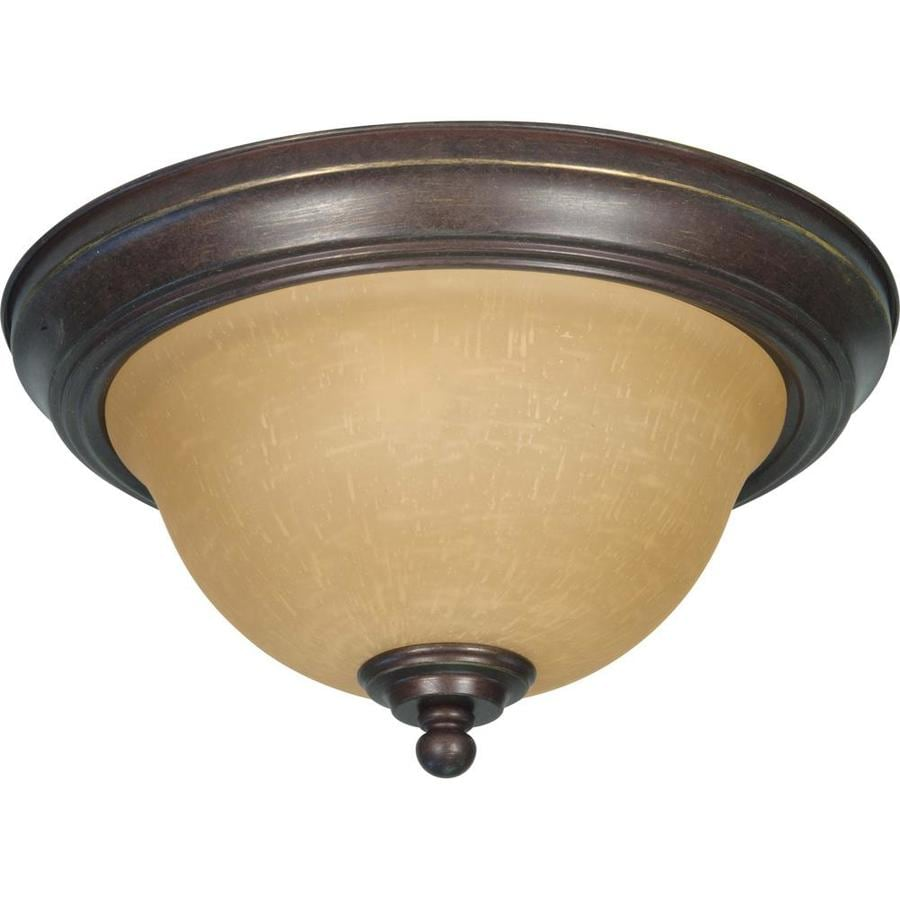2-in W Sonoma Bronze Flush Mount Light
