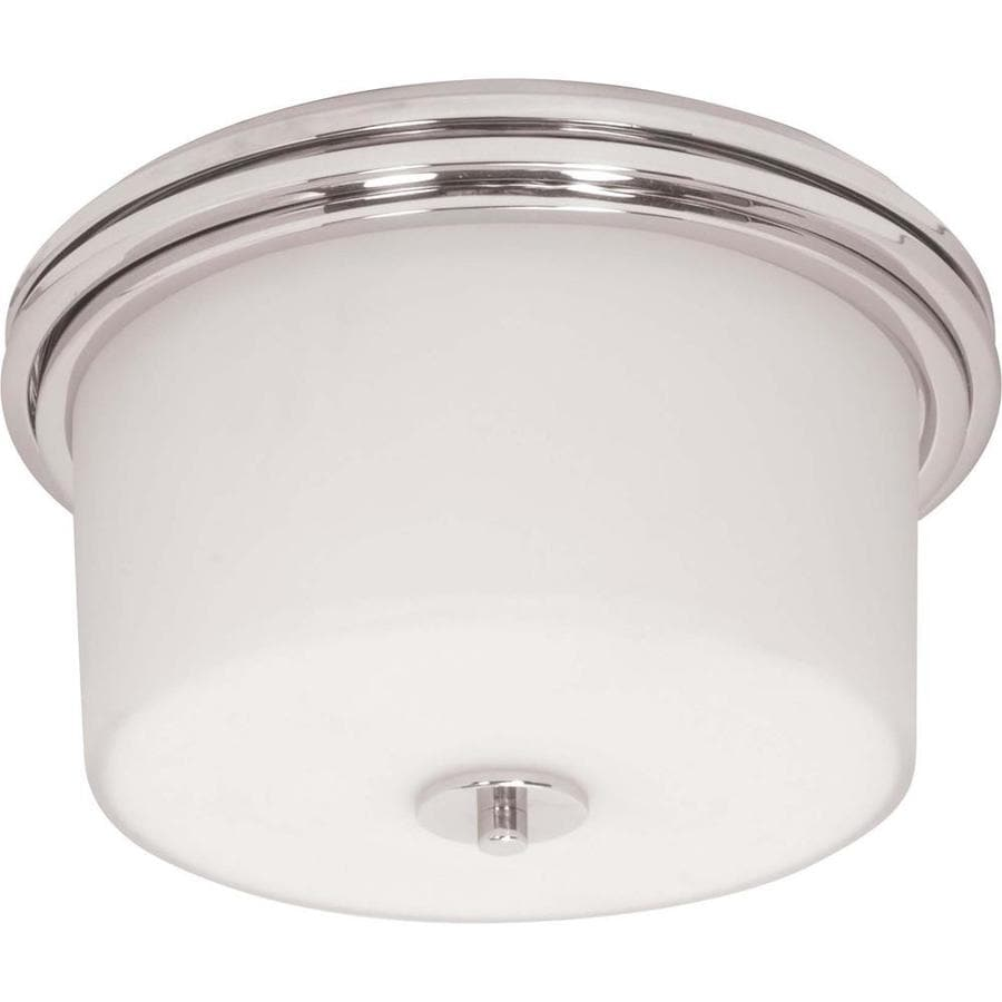 2-in W Polished Chrome Flush Mount Light
