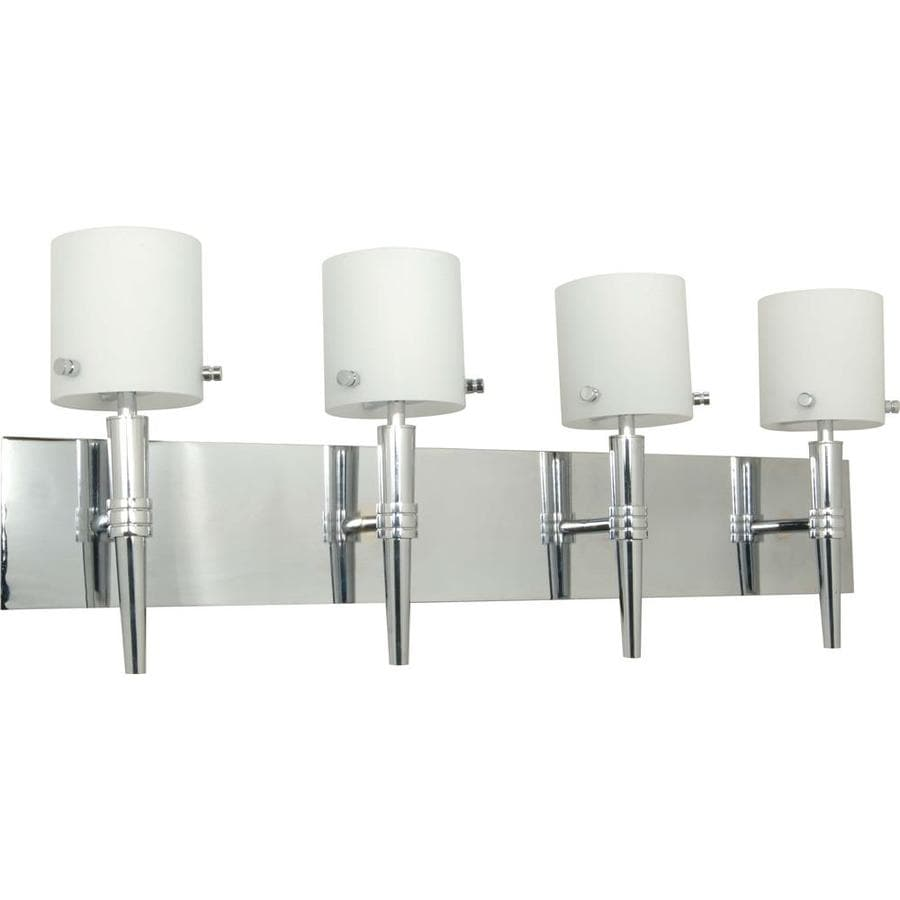 Jet 4-Light 19-in Polished Chrome Vanity Light