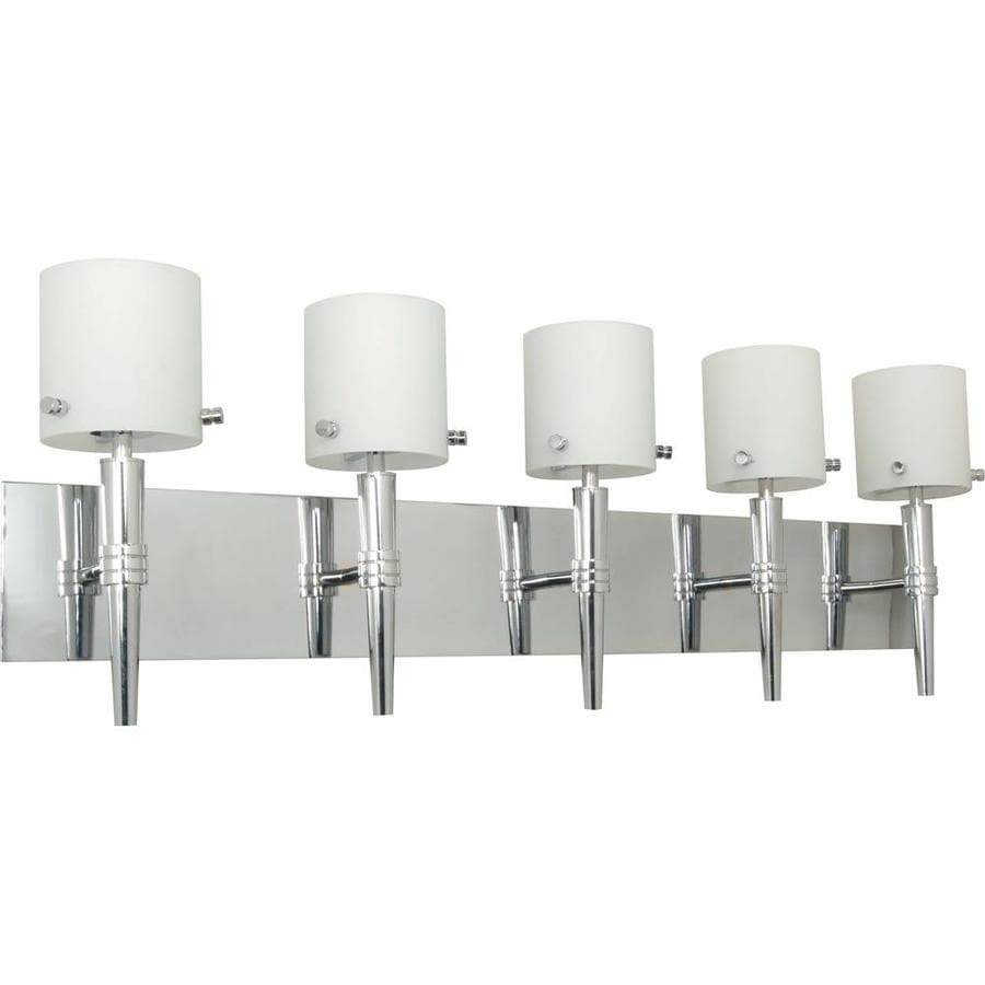 Shop Jet 5-Light 19-in Polished chrome Vanity Light at Lowes.com