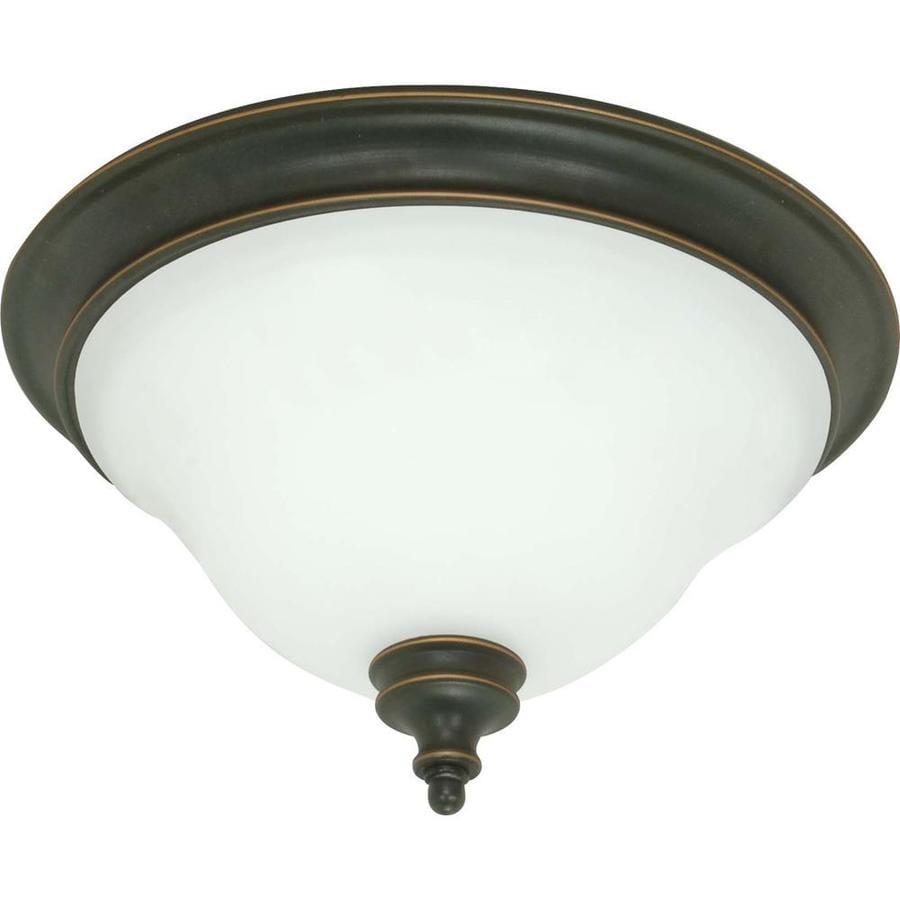 2-in W Rustic Bronze Flush Mount Light