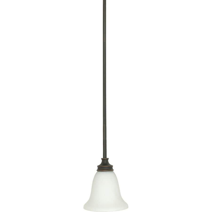 Bistro 13-in Rustic Bronze Mini Bell Pendant