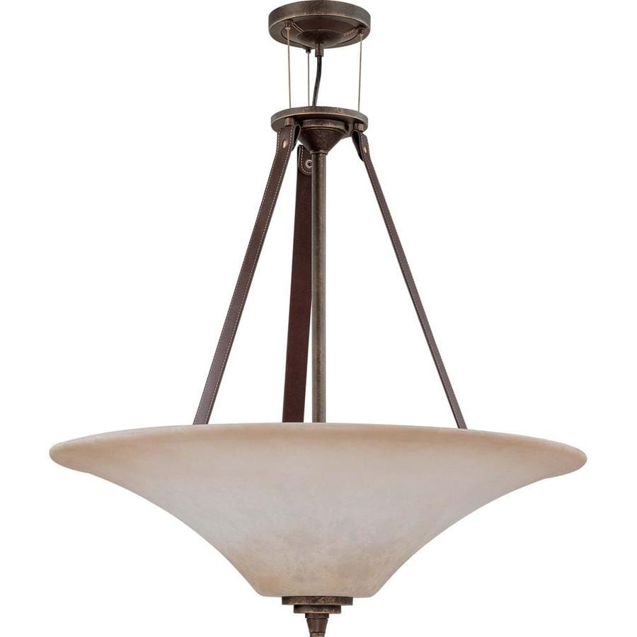 Rockport Milano 11-in Golden Umber Bronze Single Tinted Glass Pendant