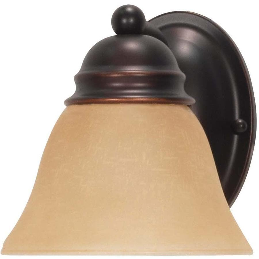 Empire 1-Light 7.625-in Mahogany Bronze Vanity Light
