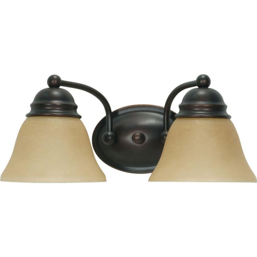 Empire 2-Light 7.625-in Mahogany Bronze Vanity Light