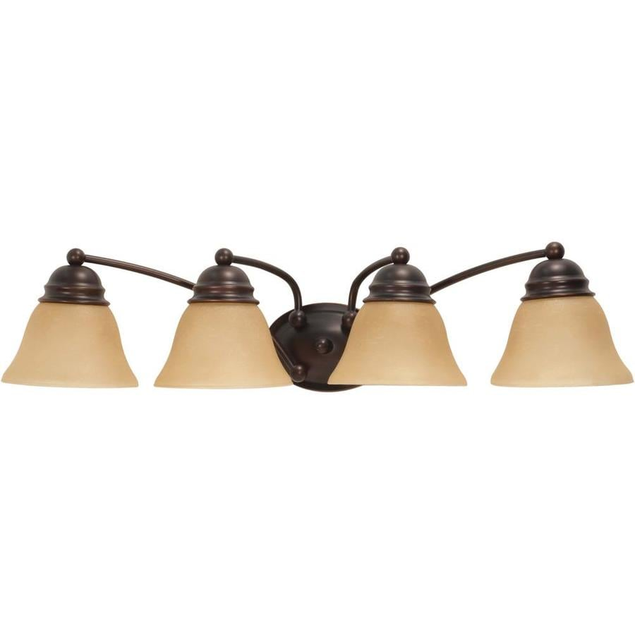 Empire 4-Light 7.625-in Mahogany bronze Vanity Light