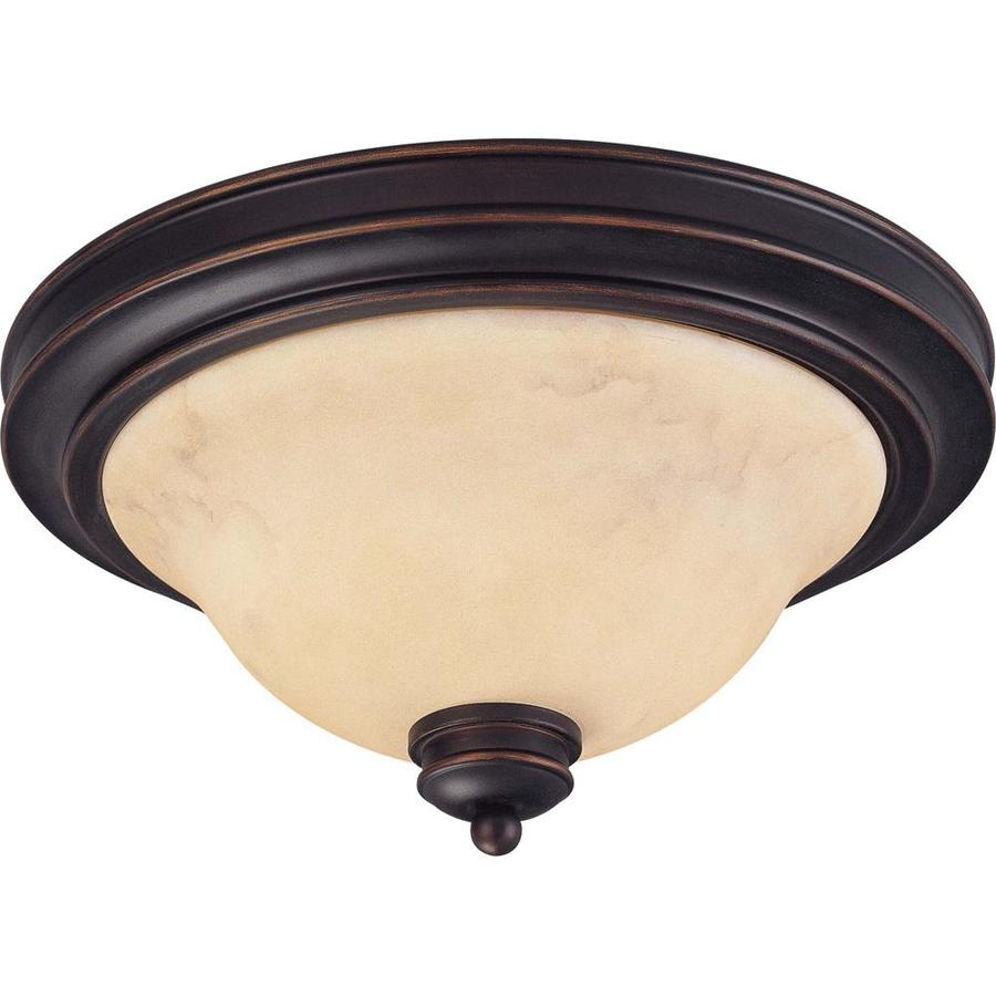 2-in W Copper espresso bronze Flush Mount Light