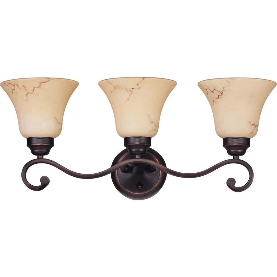 Anastasia 3-Light 10.125-in Copper Espresso Vanity Light