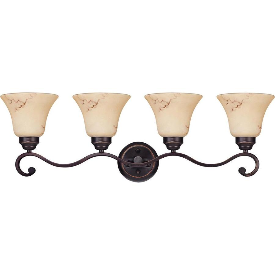 Anastasia 4-Light 10.125-in Copper Espresso Vanity Light