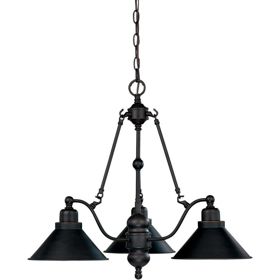 Bridgeview 26.5-in 3-Light Mission Dust Bronze Candle Chandelier