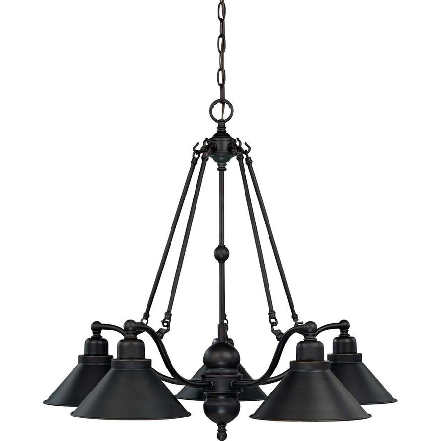 Bridgeview 30-in 5-Light Mission Dust Bronze Candle Chandelier