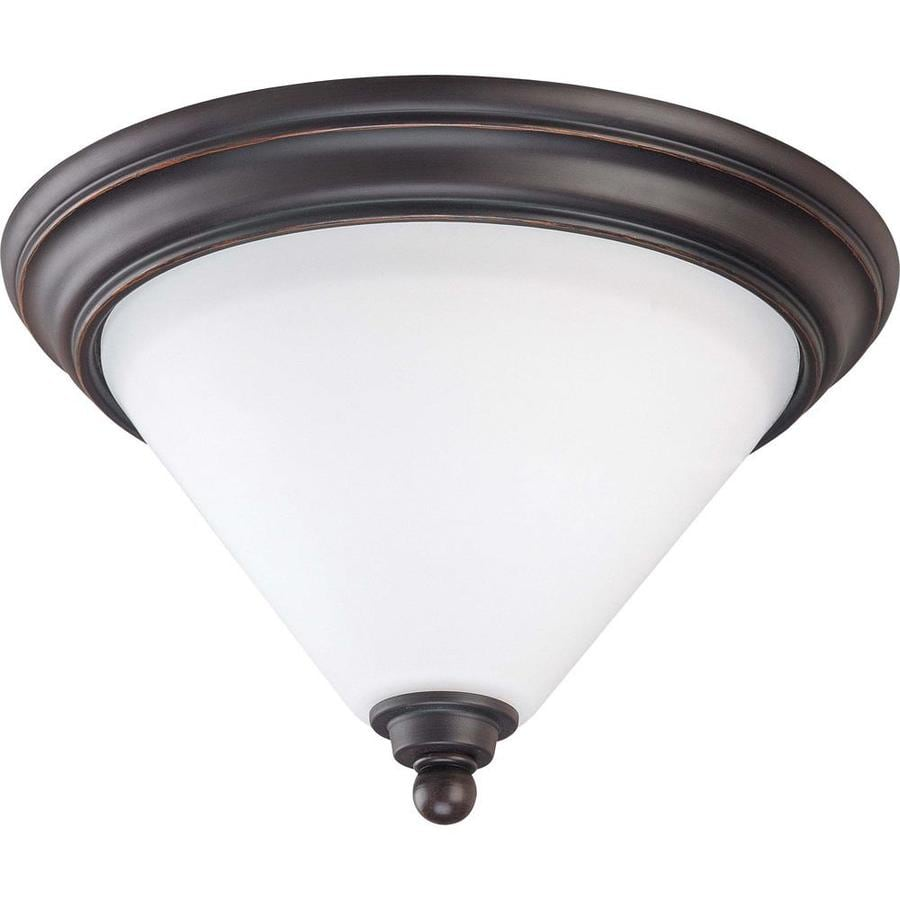 1-in W Mission dust bronze Flush Mount Light