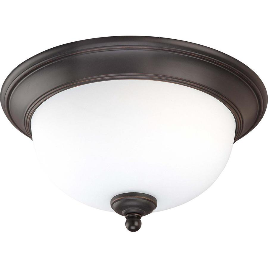 13-in W Sudbury Bronze Standard Flush Mount Light