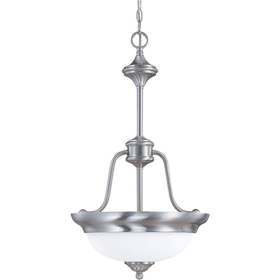 Glenwood 17.12-in Brushed Nickel Mini N/A Pendant