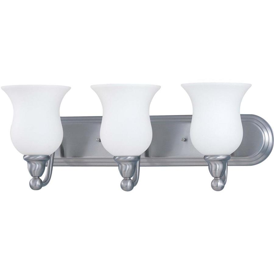 Glenwood 3-Light 8.5-in Brushed Nickel Vanity Light