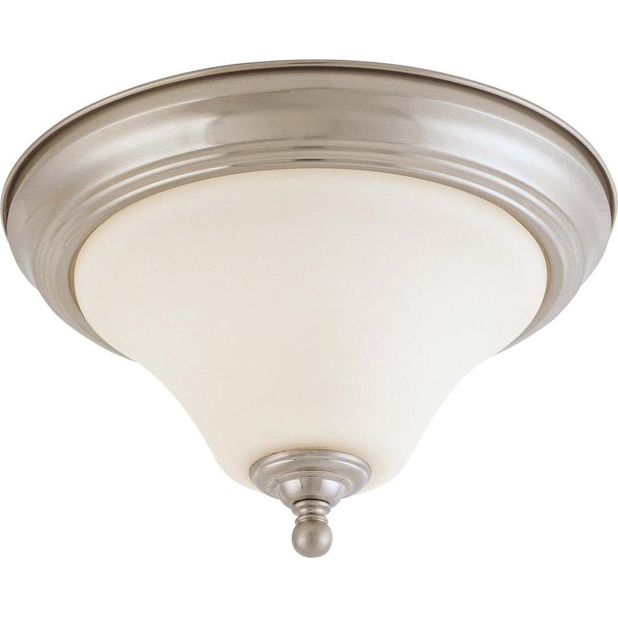 1-in W Brushed Nickel Flush Mount Light