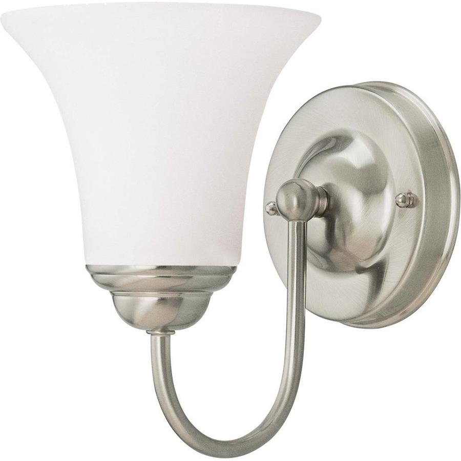Dupont 1-Light 8-in Brushed Nickel Vanity Light