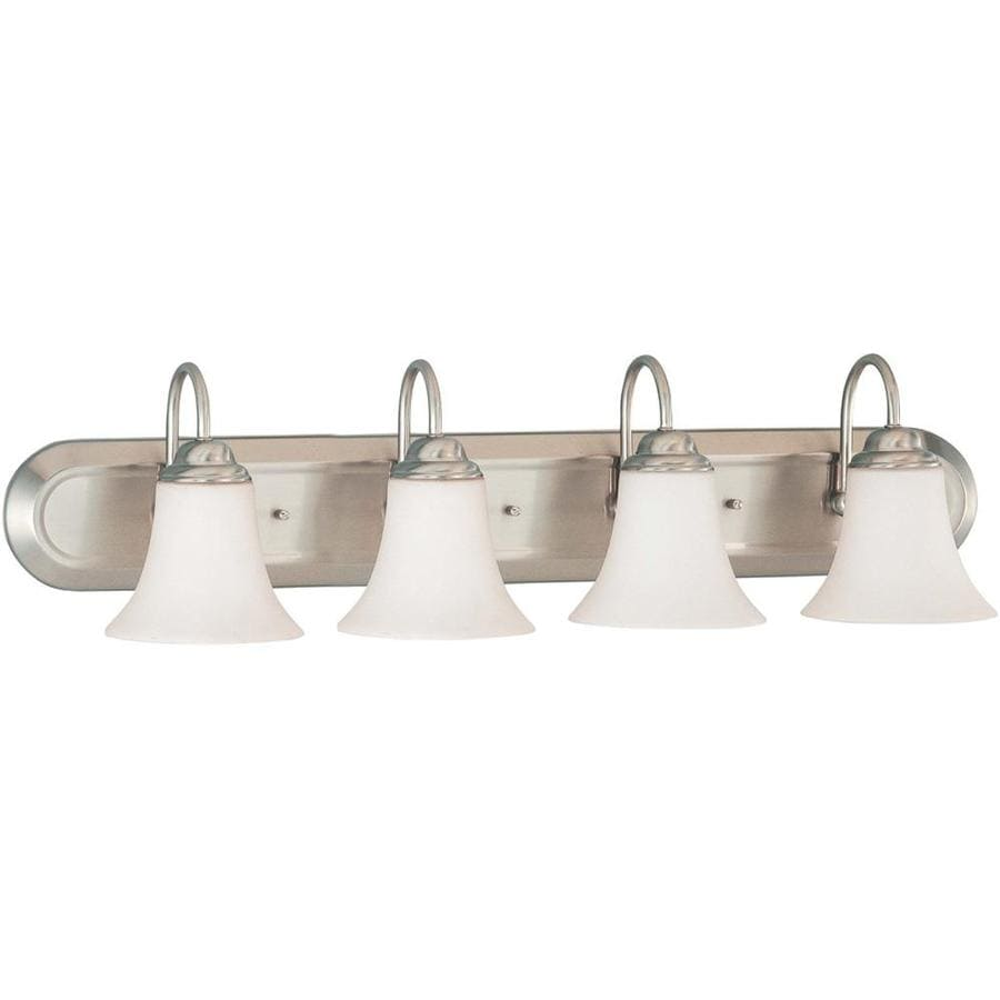 Dupont 4-Light 8-in Brushed Nickel Vanity Light