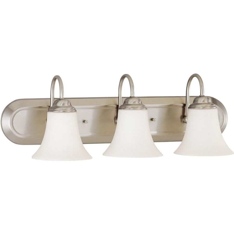 Dupont 3-Light 8-in Brushed Nickel Vanity Light
