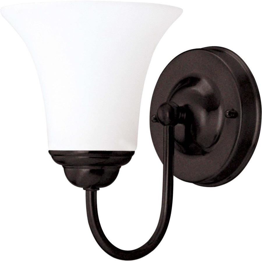 Dupont 1-Light 8-in Dark Chocolate Bronze Vanity Light
