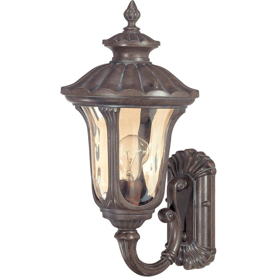 16.66-in H Fruitwood Bronze Outdoor Wall Light
