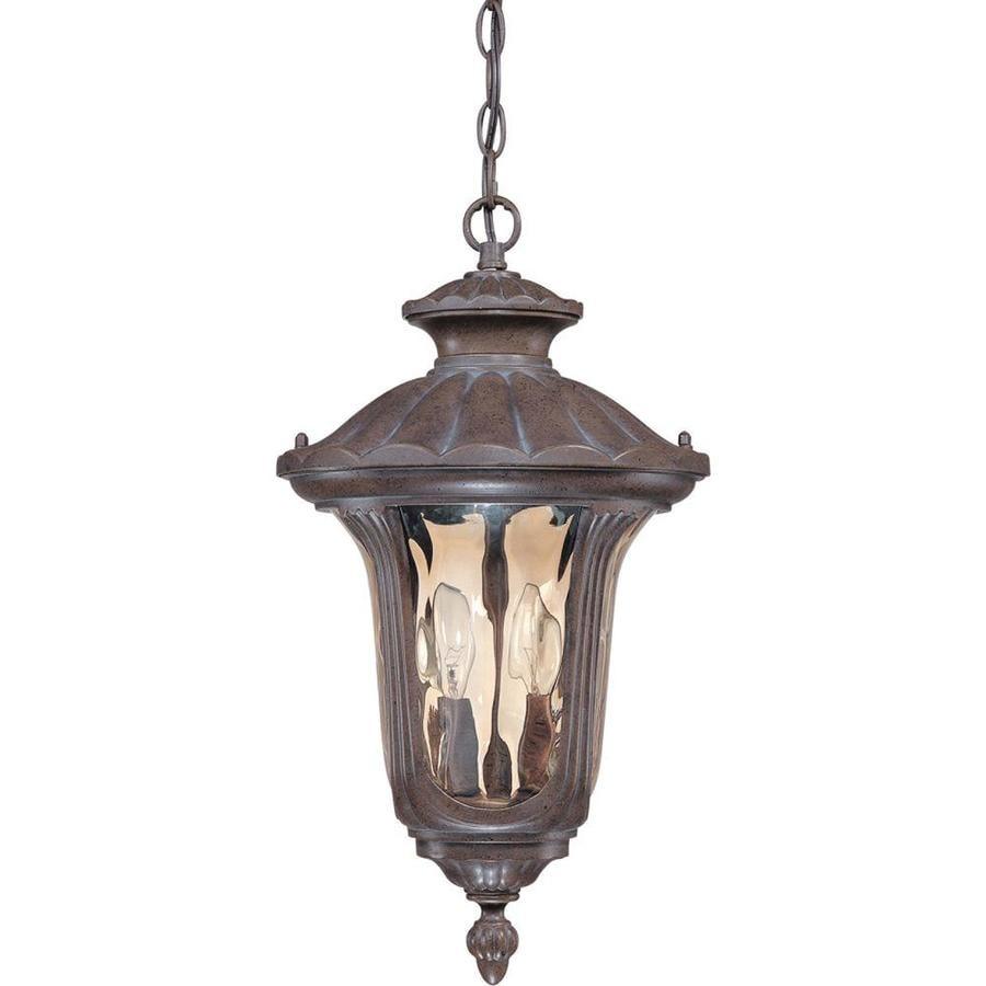 12.74-in W Fruitwood Bronze Outdoor Flush-Mount Light