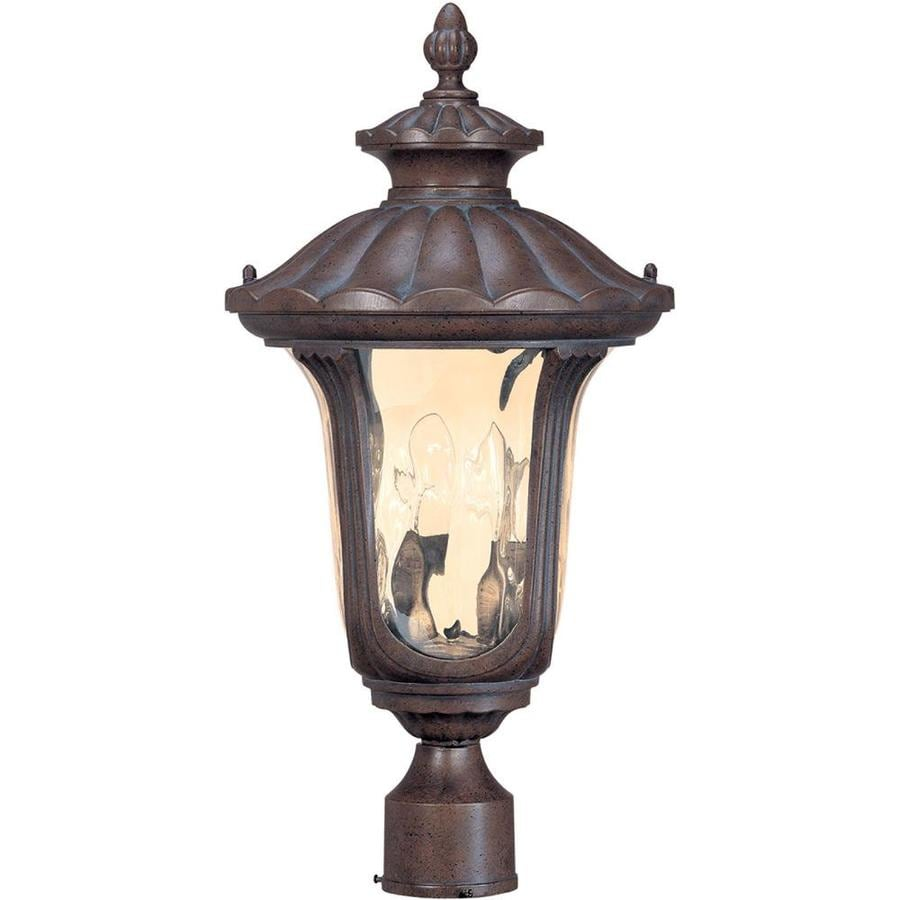 12.74-in W Fruitwood Outdoor Flush-Mount Light