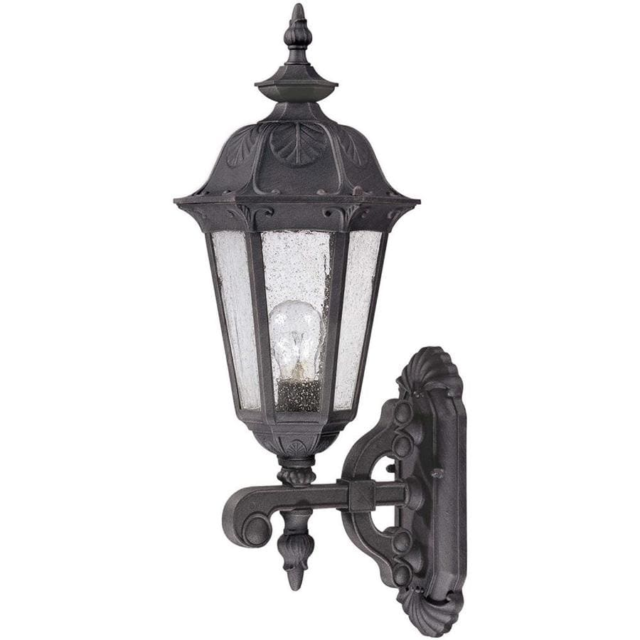 20.09-in H Satin Iron Ore Outdoor Wall Light