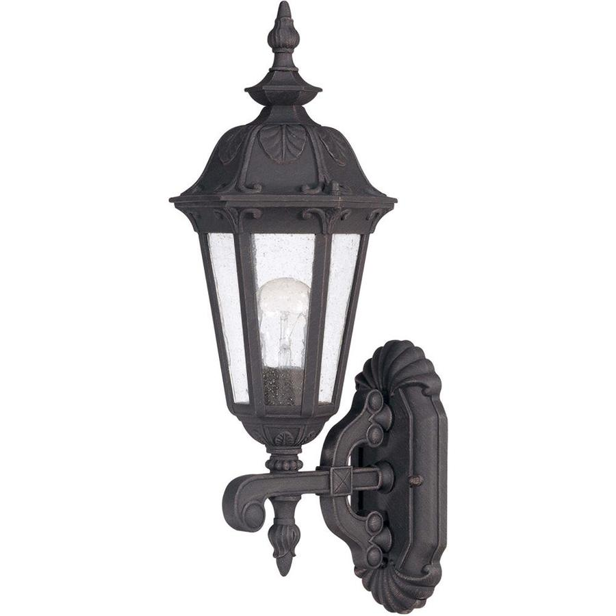 17.4-in H Satin Iron Ore Outdoor Wall Light