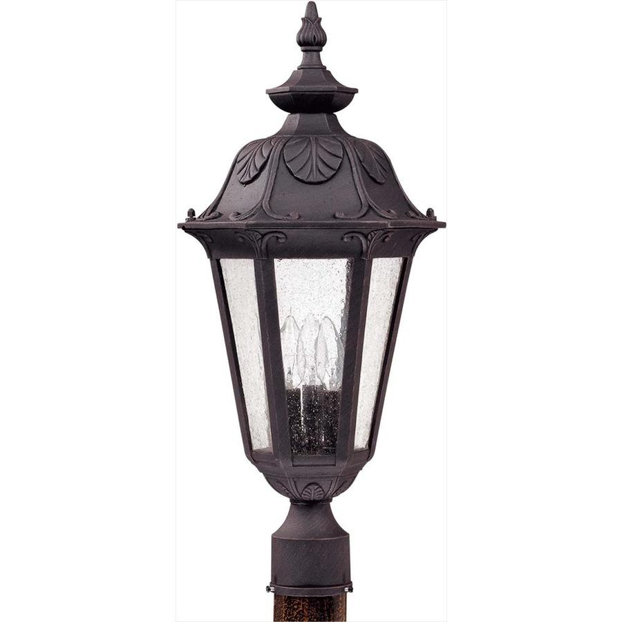 11.27-in W Satin Iron Ore Outdoor Flush-Mount Light